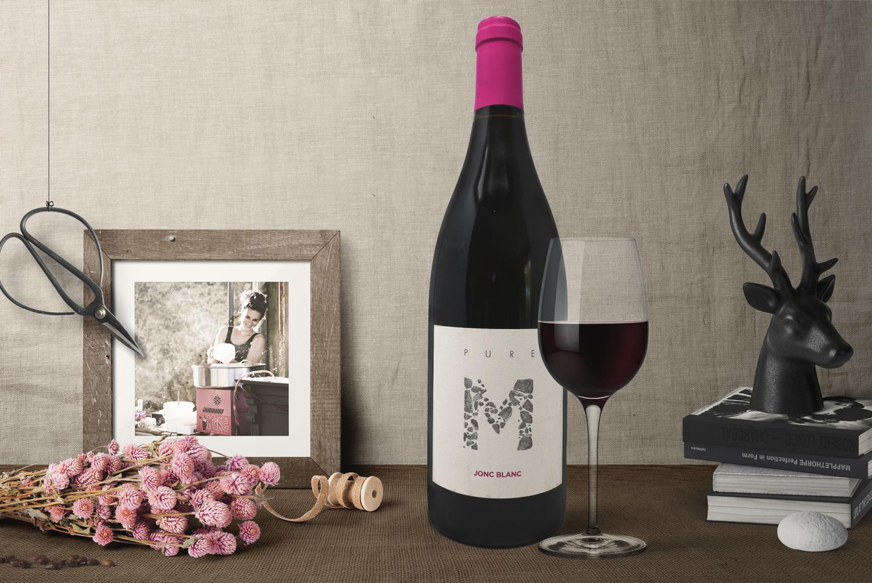 Jonc Blanc, le domaine - Gamme Pure M - Vin rouge bio