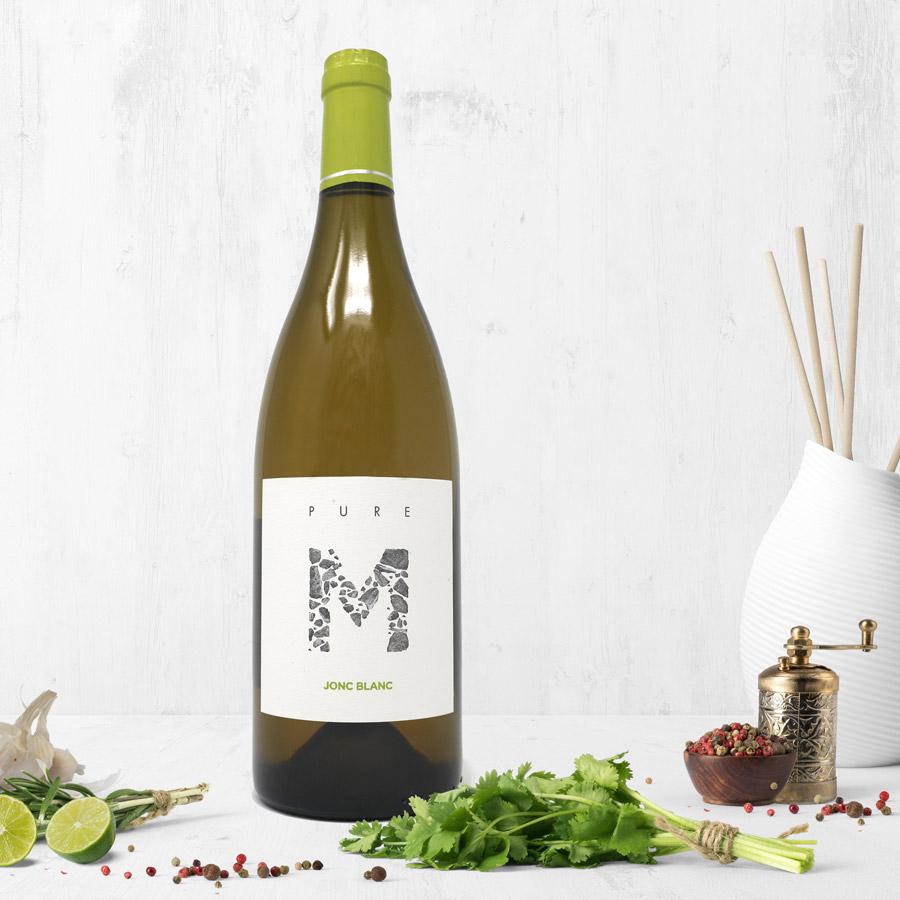 Jonc Blanc - PURE M, Vin Blanc vivant biodynamique