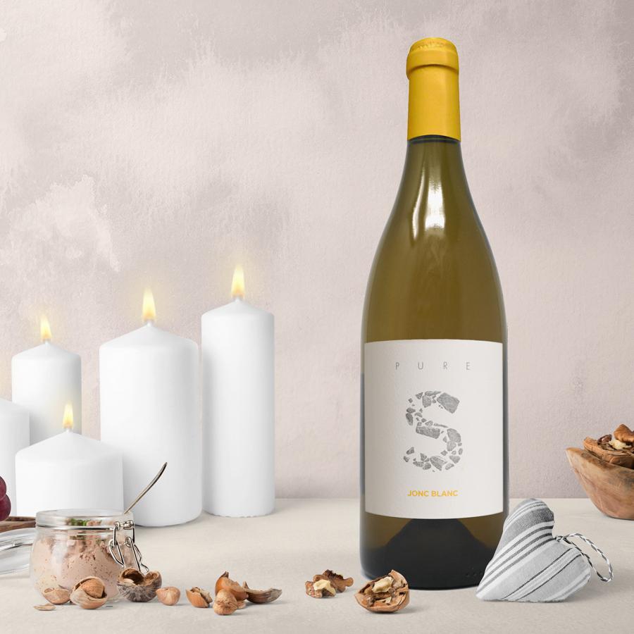 Jonc Blanc - PURE S, Vin Blanc vivant biodynamique - haut de gamme