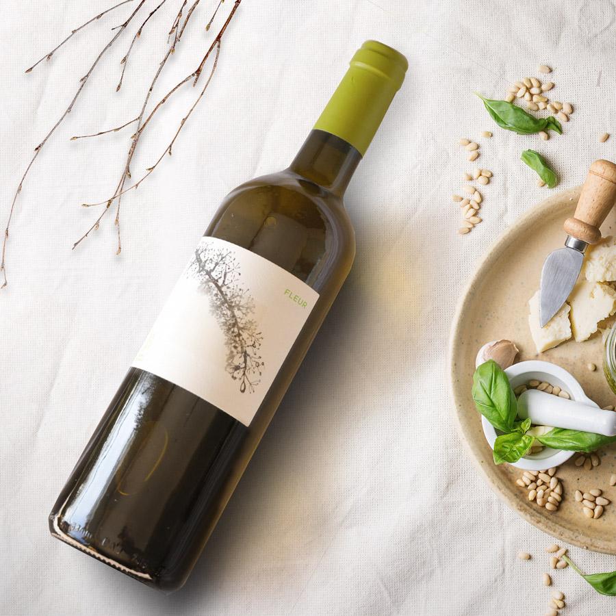 Fleur, vin blanc JONC BLANC, accompagne tapas, toast, idéal pour l'apéro !
