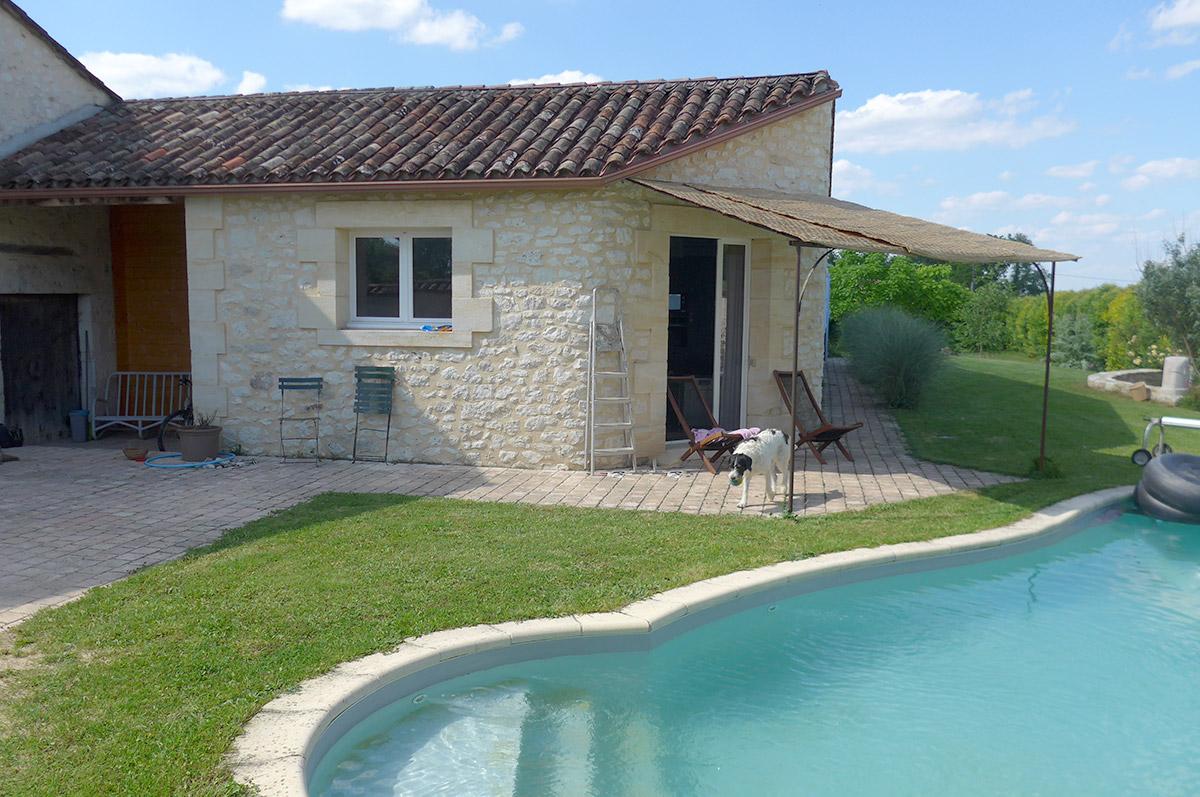 Gîte Jonc Blanc (Dordogne) : Maison en pierre, piscine