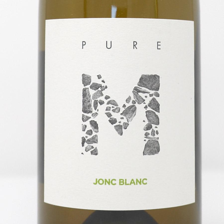 Jonc Blanc - PURE M, Vin Blanc vivant biodynamique, l'étiquette
