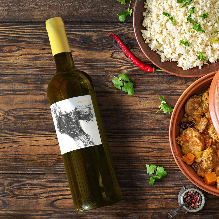 ECORCE chez vignoble JONC BLANC, vin blanc BIO
