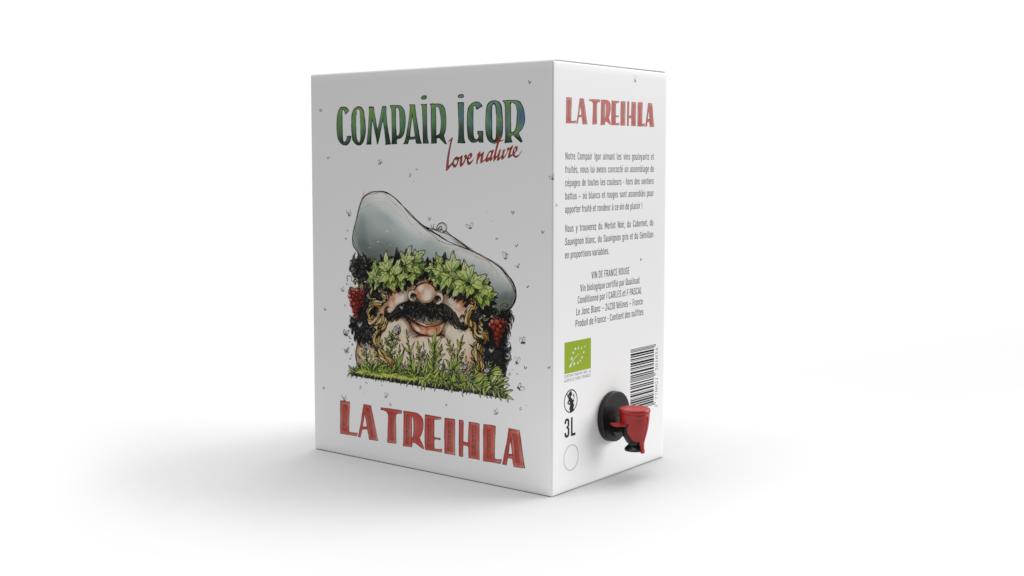 Bib 3 Litres Compair igor, vin de France sud-Ouest biologique, certifié Qualisud